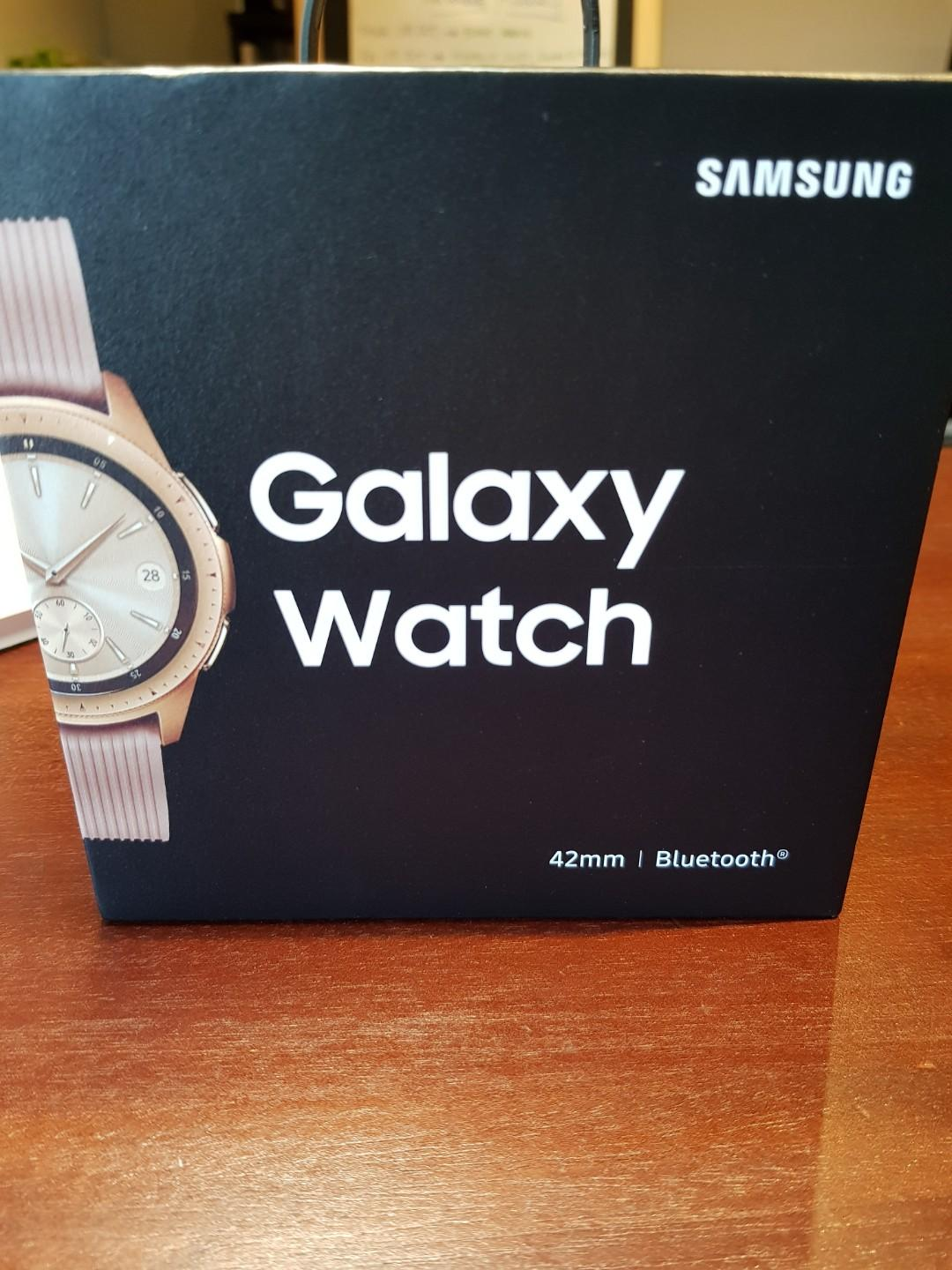 Brand New, Sealed Samsung Galaxy Watch - Rose Gold
