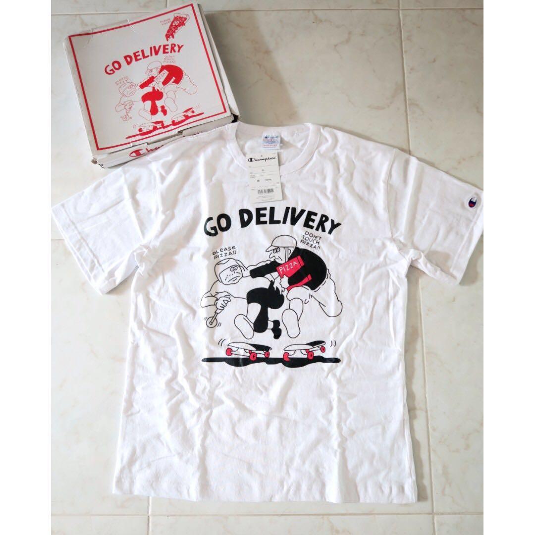 e9ef4fff Champion Japan x Oka Koji Pizza and Skate Festival T-Shirt, Men's ...