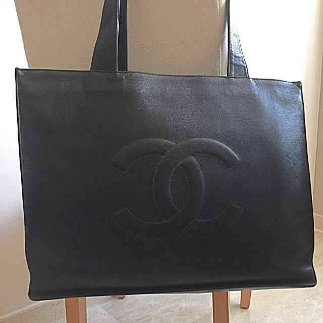 145b6d348b51 Chanel Classic Large Shopping Bag Authentic And Vintage