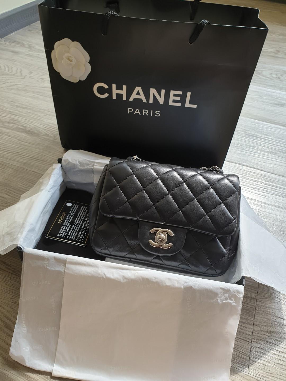 0da2cc0f693e55 Chanel Classic Mini Square SHW, Luxury, Bags & Wallets, Handbags on ...
