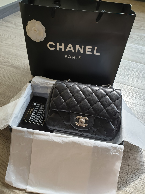 c4a4c50b7e5a Chanel Classic Mini Square SHW, Luxury, Bags & Wallets, Handbags on ...