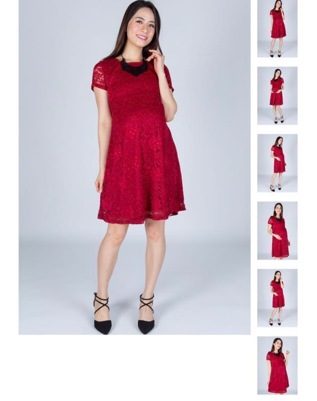 92074f585c0ab Classy Red Lace Nursing Dress Jump Eat Cry , Babies & Kids ...