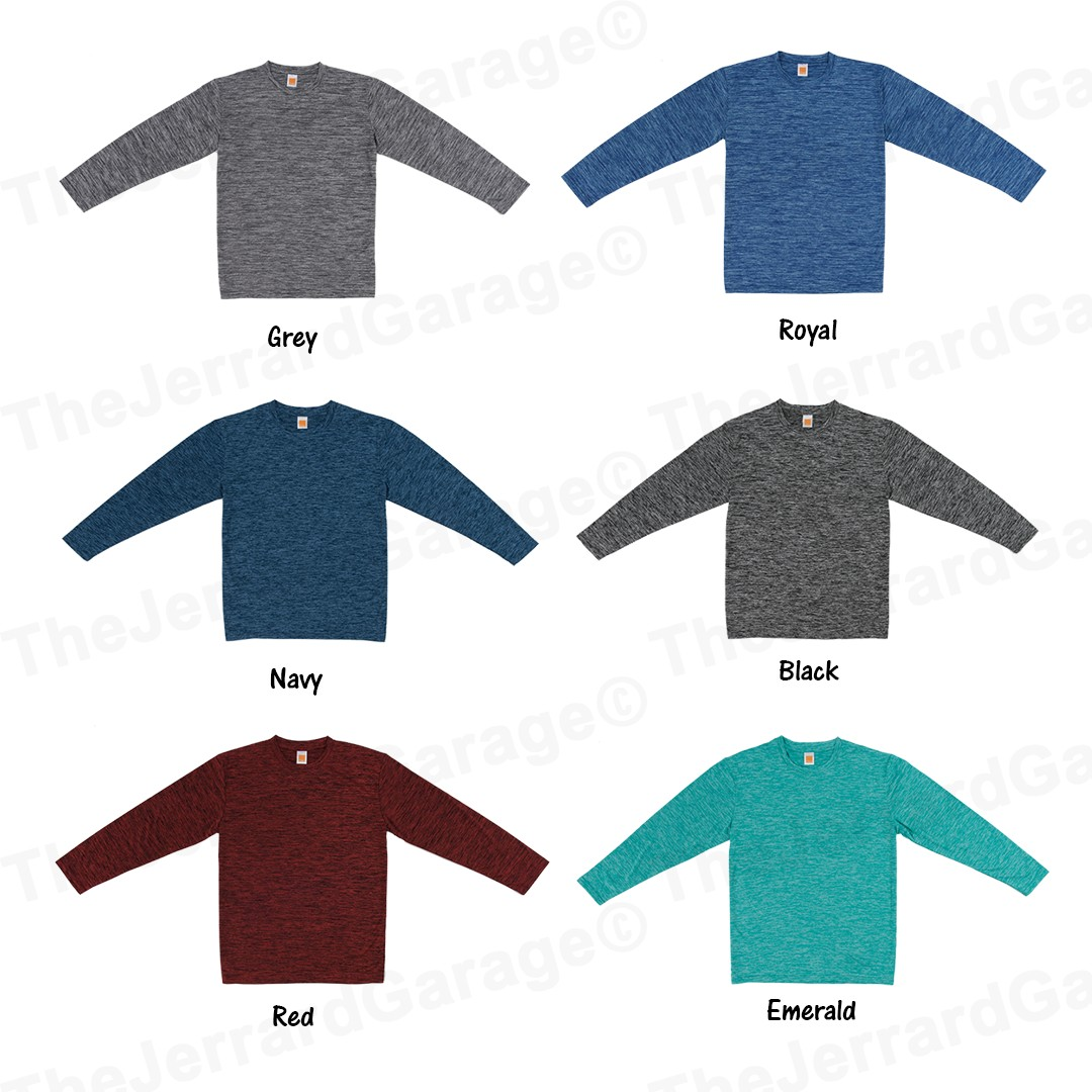 72008bdc634 Dri Fit Long Sleeve Melange T-Shirt (PC51)