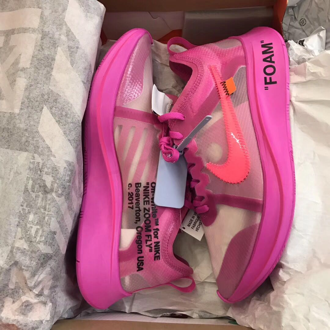fc4007c5400a 🔥EARLY PAIR OFF WHITE X NIKE ZOOM FLY PINK