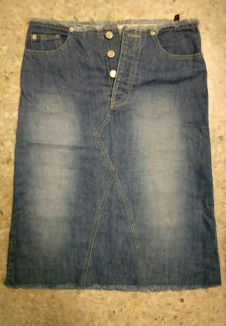 ff567d45ff Egoist knee length jeans skirt, Women's Fashion, Clothes, Bottoms on ...