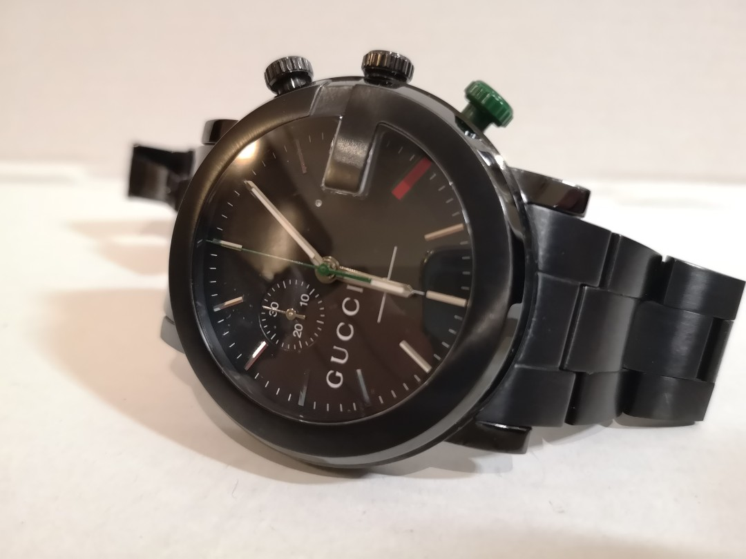 0b857c0a05d Gucci G-Chrono Collection PVD and stainless steel watch YA101331 ...