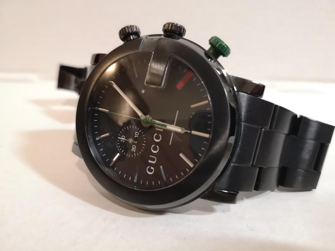 94c2ac8f Gucci G-Chrono Collection PVD and stainless steel watch YA101331 ...