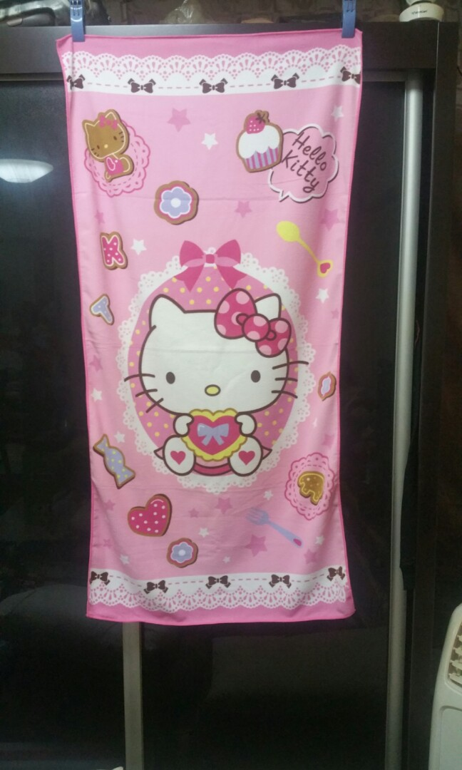 6052c54aa Hello Kitty Bath Towel, Women's Fashion, Accessories, Others on ...