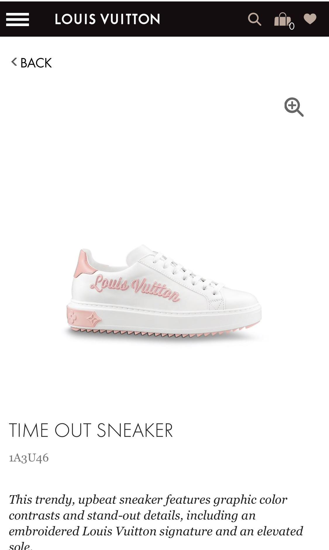 713544d2c0f Louis Vuitton Time Out Sneakers Pink, Luxury, Shoes on Carousell