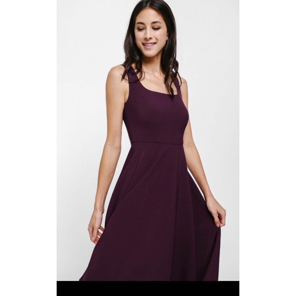 f13f8fbd561 LOVE BONITO Aldren A-Line Midi Dress (Size M)