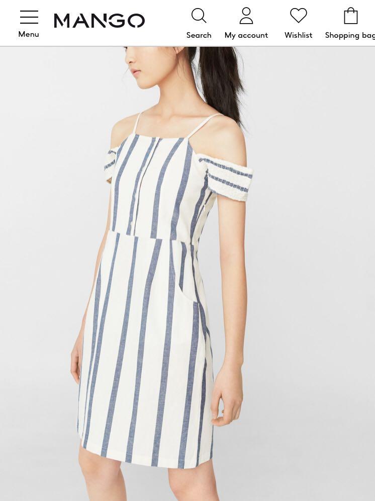 9f67c634b0ffd Mango Stripe Off Shoulder Dress