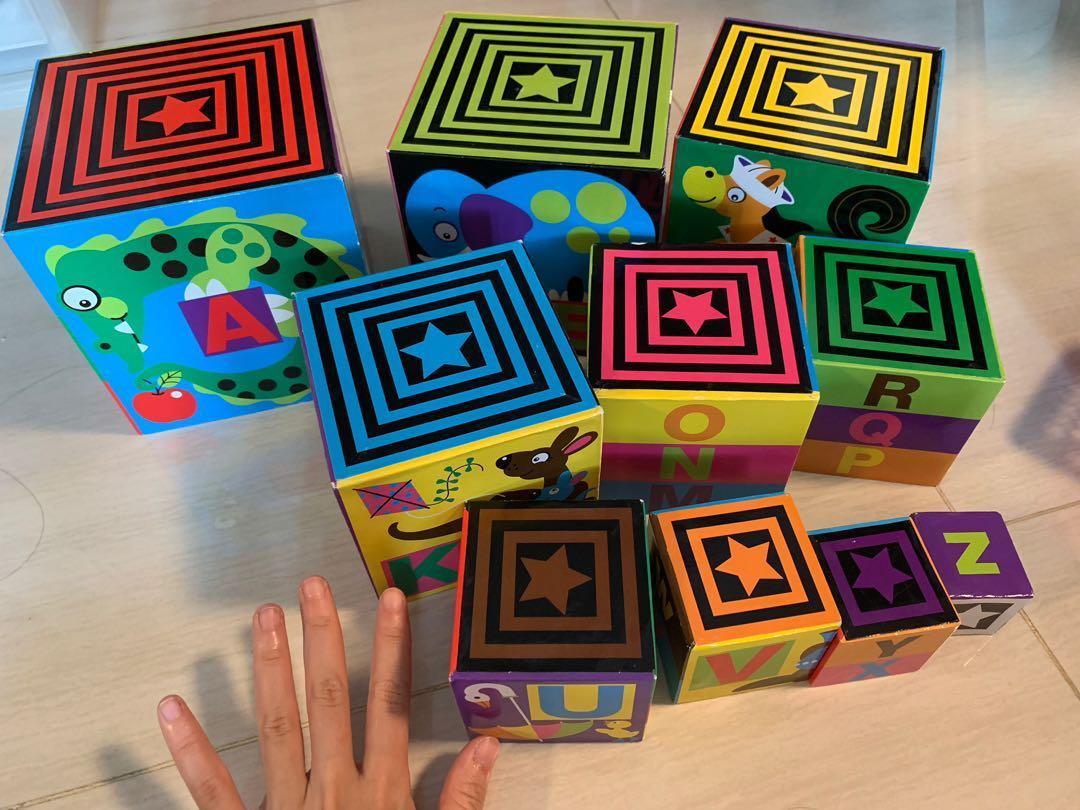 Melissa Doug Alphabet Nesting And Stacking Blocks Toddler