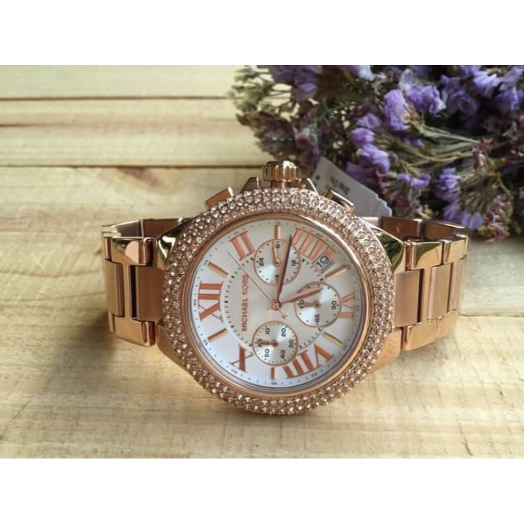 e84aba6a7067 Michael Kors Camille Chronograph Rose Gold-tone Women s Watch ...