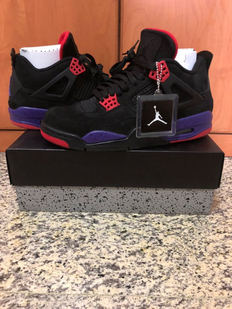 537b7d55fd9 US 10 Nike Air Jordan 4 Retro NRG Raptors, Men's Fashion, Footwear ...
