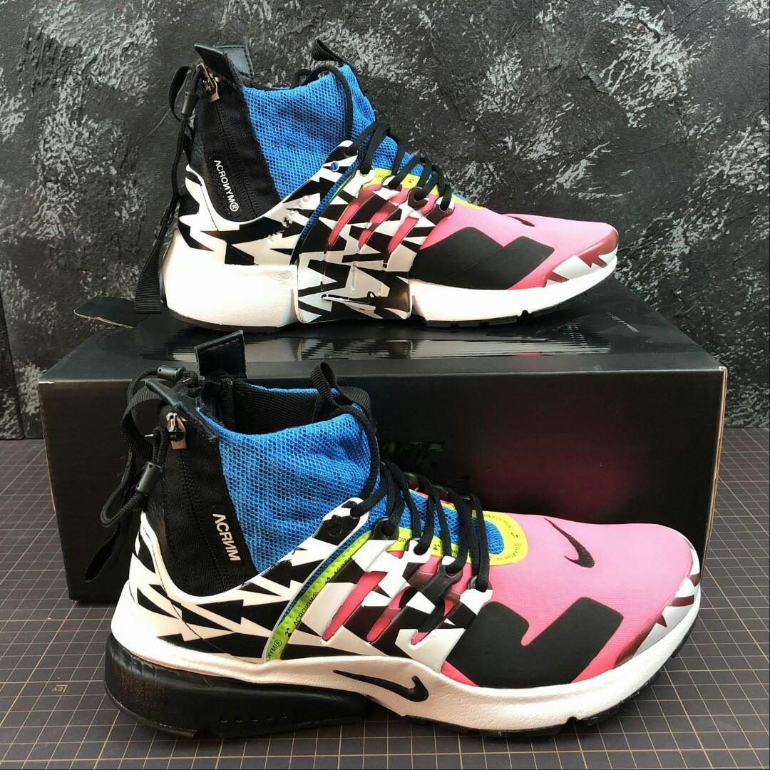 meet cbf3c b0e82 Nike Air Presto Mid x Acronym Racer Pink, Mens Fashion, Footwear, Sneakers  on Carousell