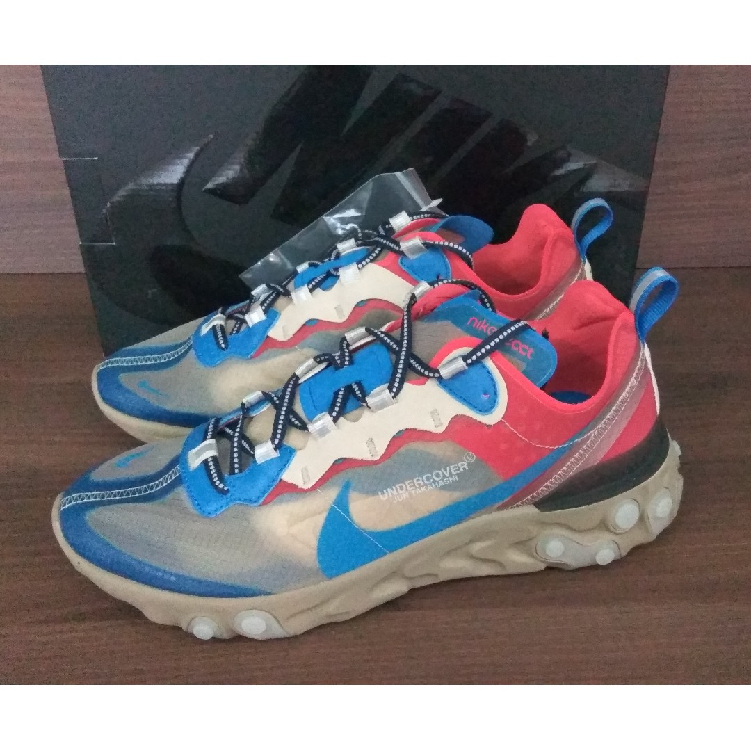 check out a4974 fb033 Nike React Element 87 Undercover Light Beige Chalk, Men s Fashion,  Footwear, Sneakers on Carousell