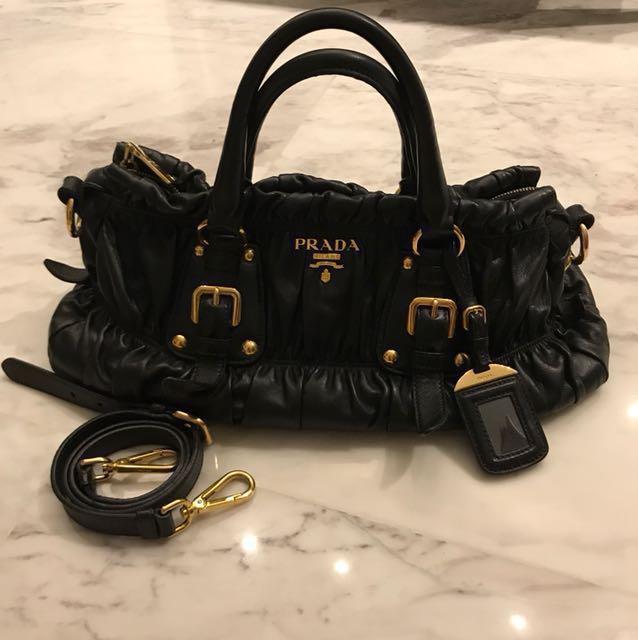 f00185007ce7 ... czech prada tessuto gaufre full nappa leather bag womens fashion bags  wallets on carousell 603cc 591f8 ...