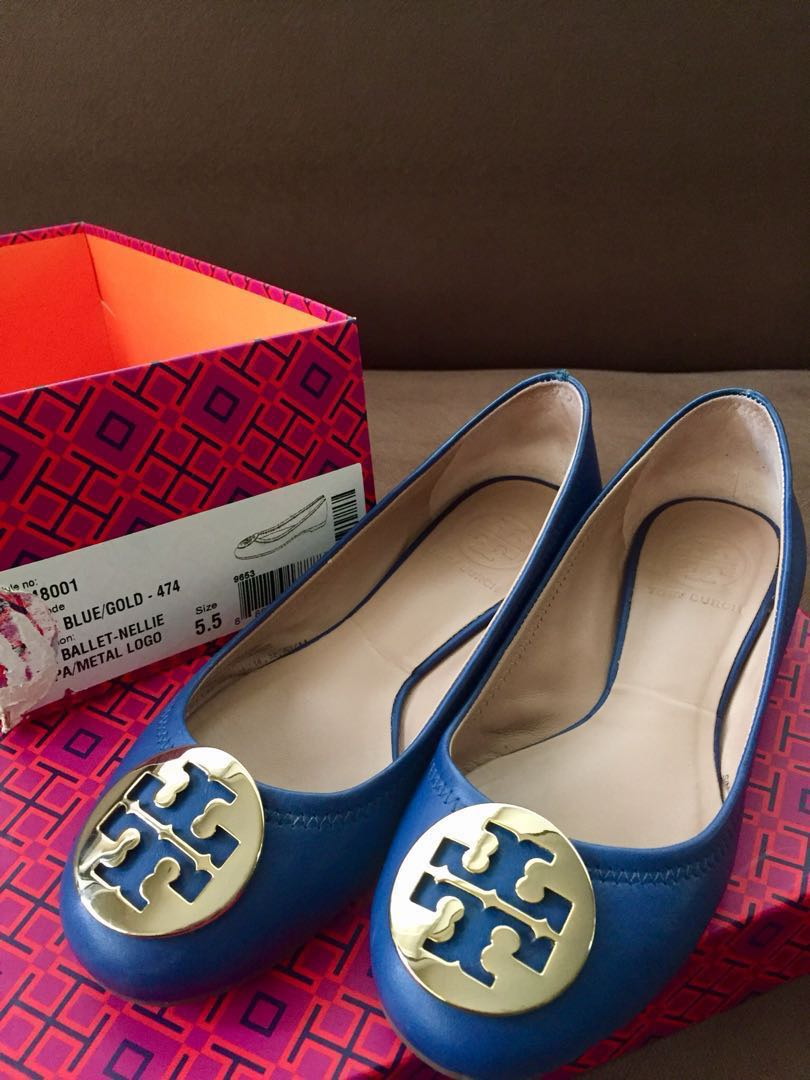 0112629c4 Pre-loved Authentic Tory Burch Reva Ballet Flats Size 5 1 2