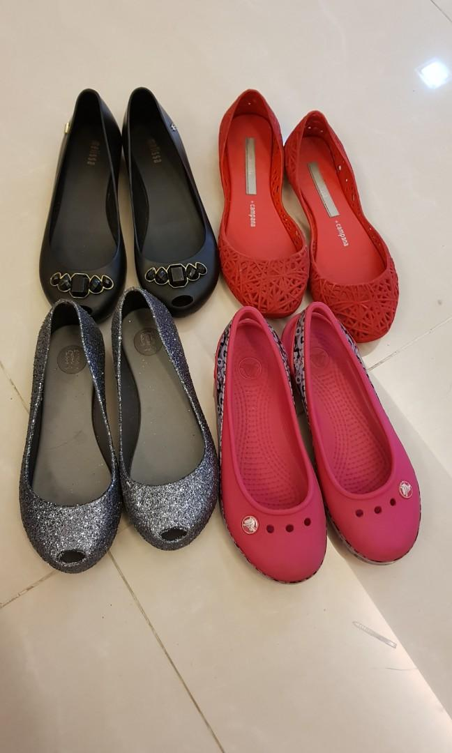 Preloved Mini Melissa shoes and Crocs