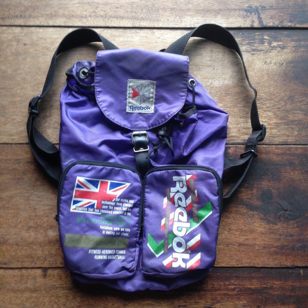 Reebok Backpack Vintage 80s 90s