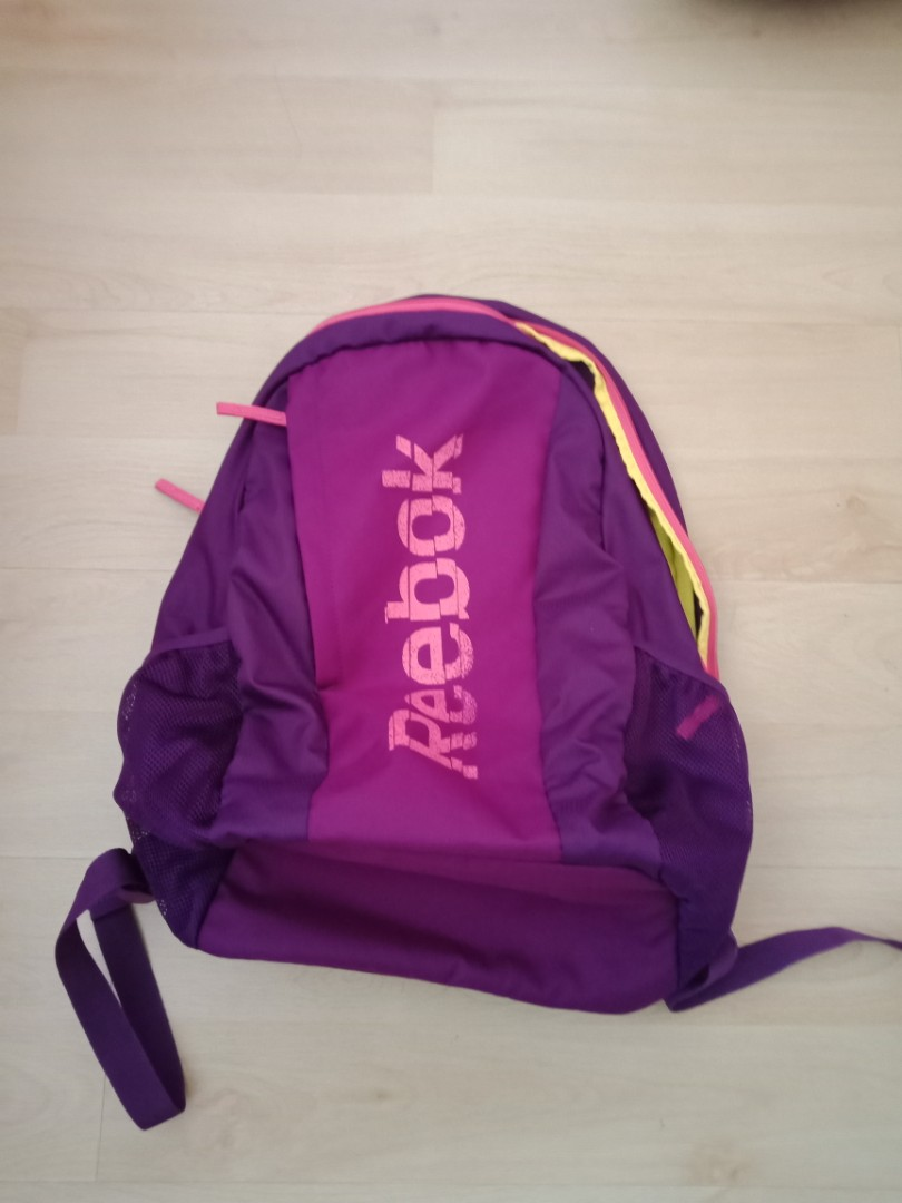 Reebok pink and purple backpack