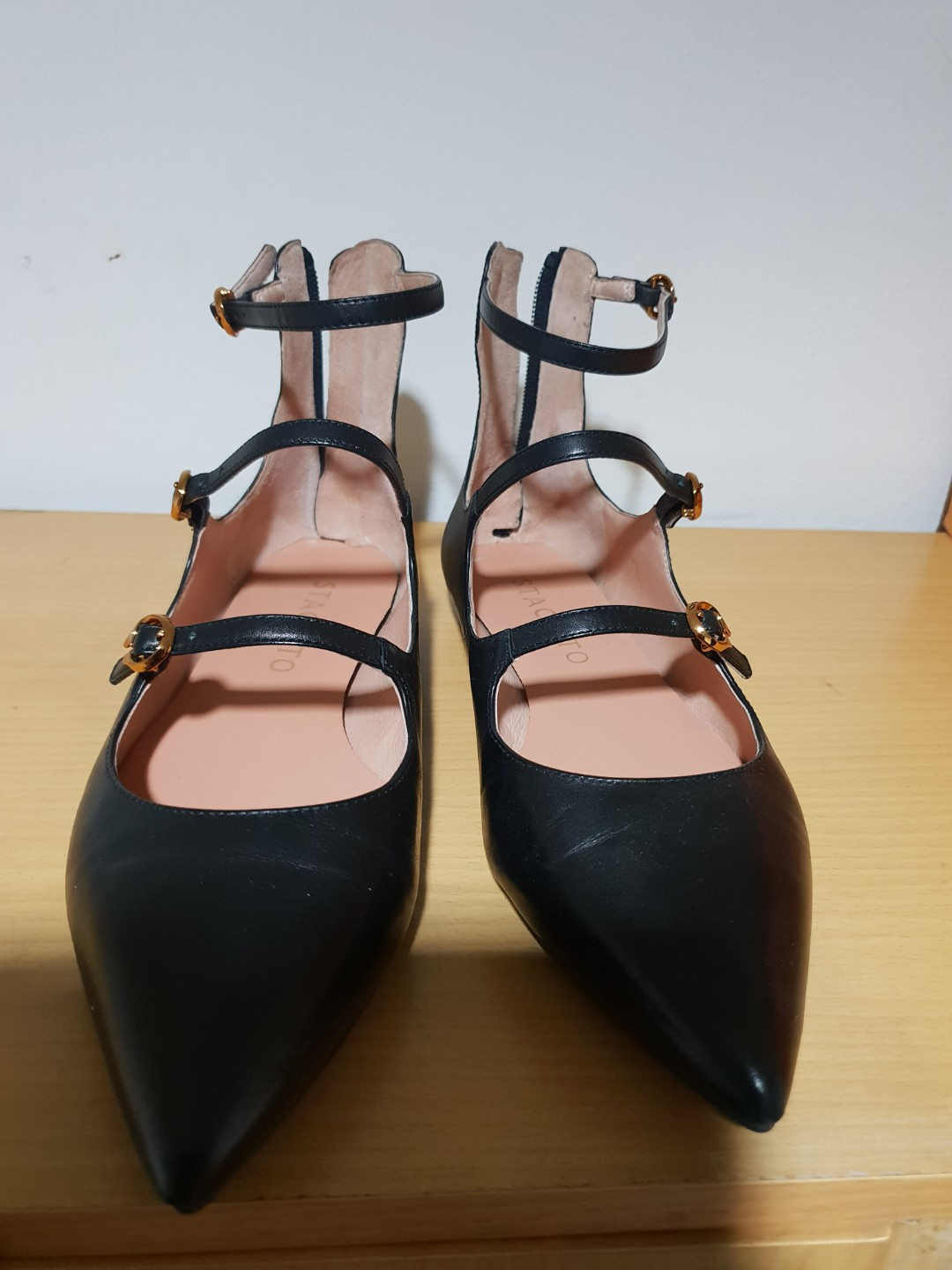Staccato black leather shoes 8845bd02dd