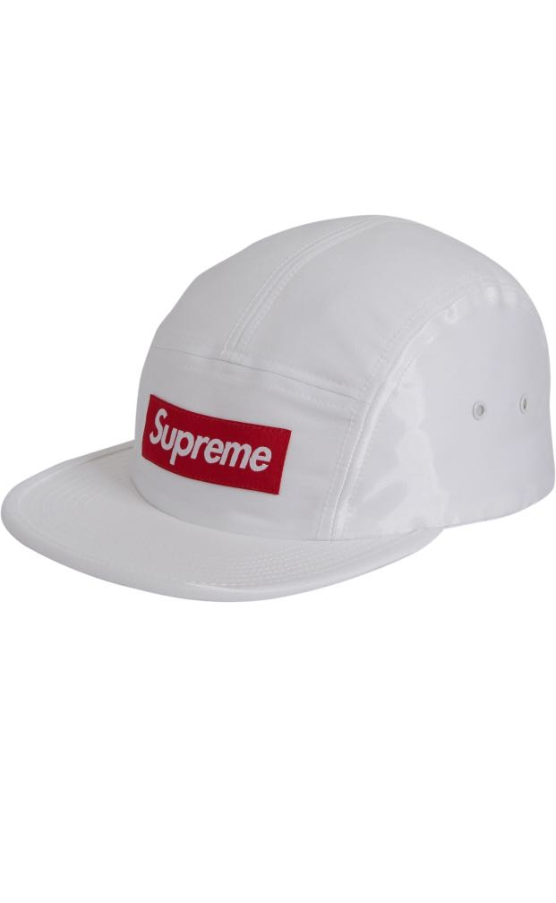 dccb7a22 Supreme Liquid Silk Camp Cap White, Men's Fashion, Accessories, Caps ...