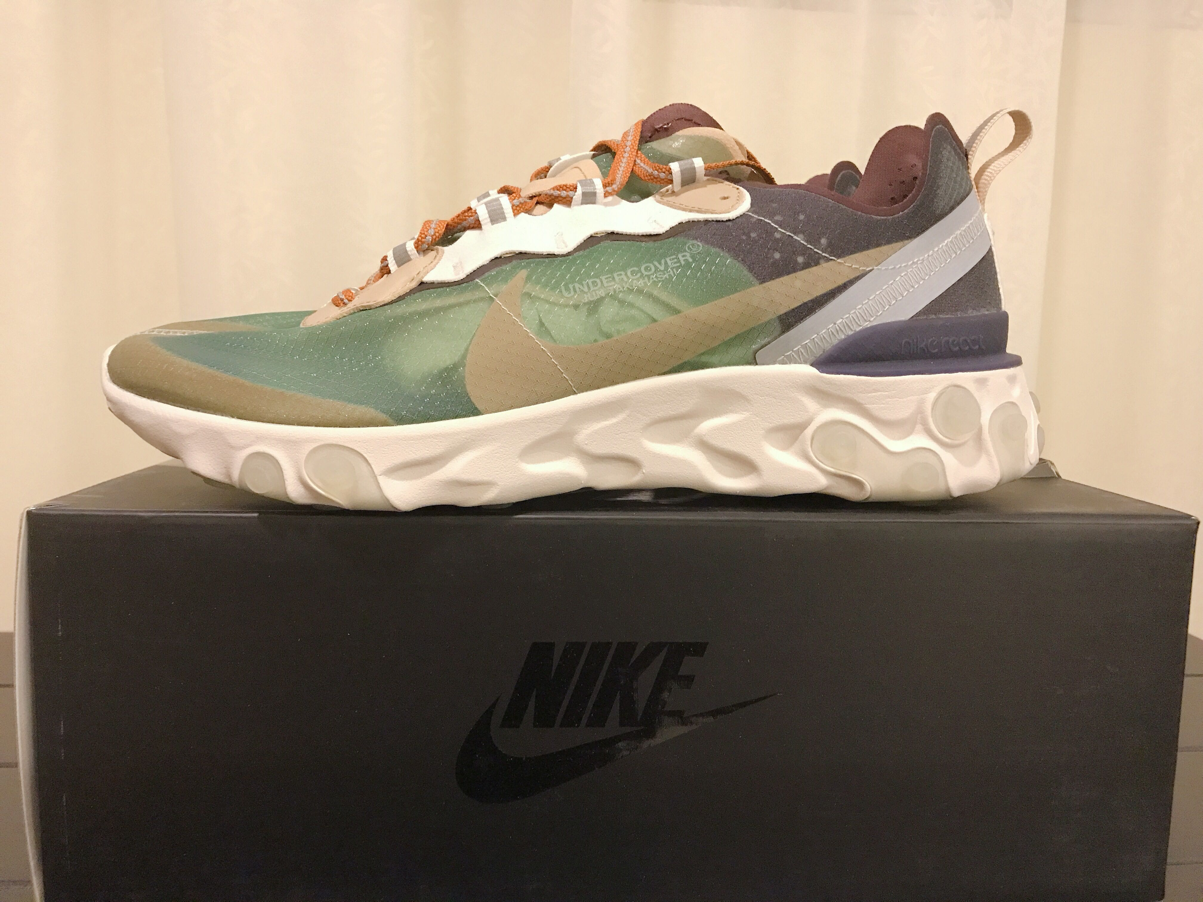 b84af10bc8ed Undercover x Nike React Element 87 Green Mist