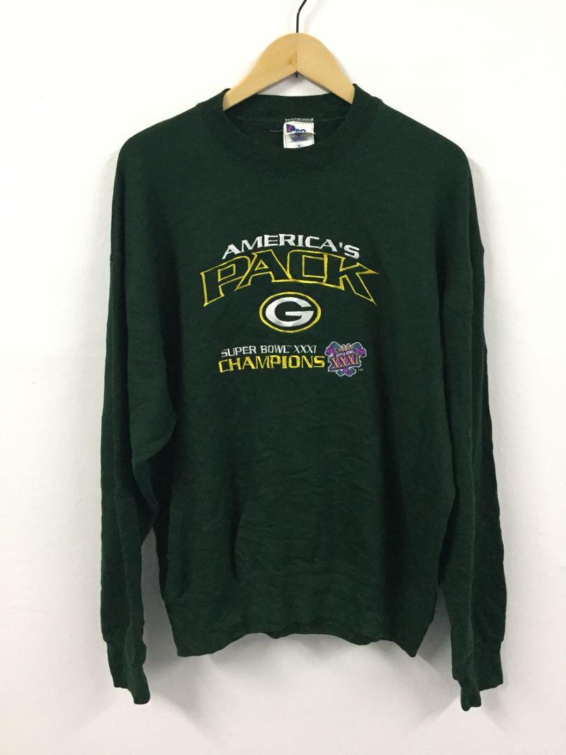 meet eb413 3e1d2 Vintage Green Bay Packers Sweatshirt Super Bowl Champion