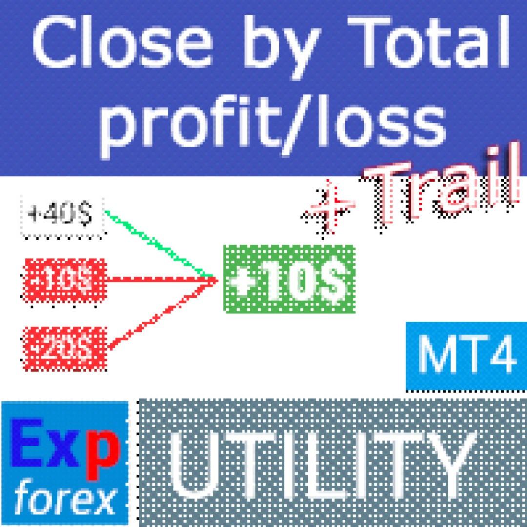 WTS – MT4 EA Title: CloseIfProfitorLoss with Trailing