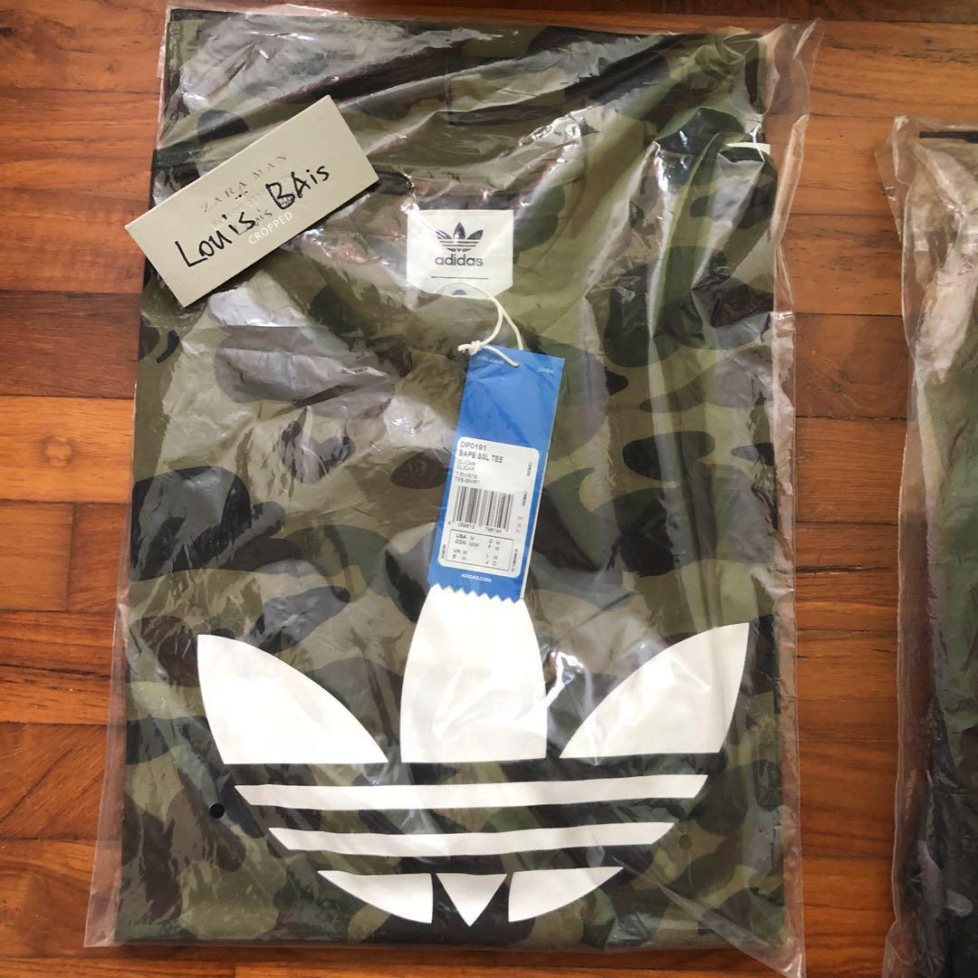 23e6bbd5df33 WTS M Adidas x Bape T Shirt Green Camo