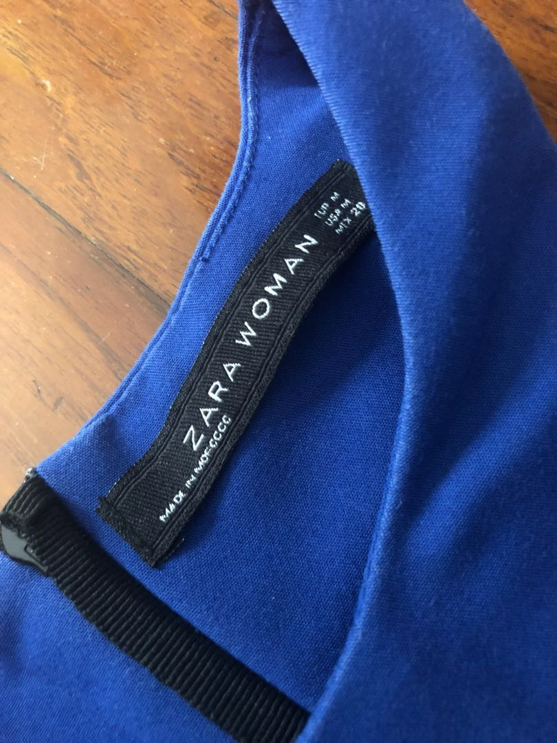 46a8e32d Zara Royal Blue Dress, Women's Fashion, Clothes, Dresses & Skirts on ...