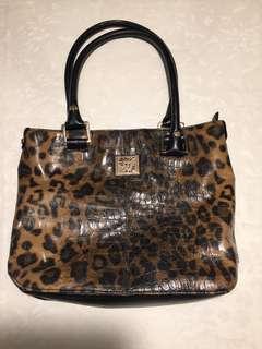 Anne Klein animal print handbag
