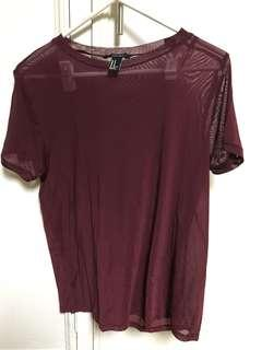 Forever 21 Stretchy Sheer see through top shirt
