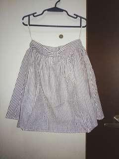 Blue striped Ribbon skirt