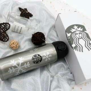 Starbucks Snowflakes Thermos Tumbler