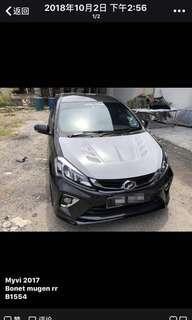 Perodua Myvi 2018 bonet mugen rr