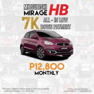 Mitsubishi Mirage HB LOW DOWN Promo SURE Approval NO Minimum Requirements DIAL NOW! 09394948123 or 09458443741