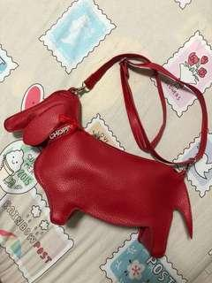 🚚 ROMA Chopin red dog sling bag