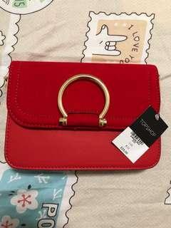 🚚 Topshop red bag