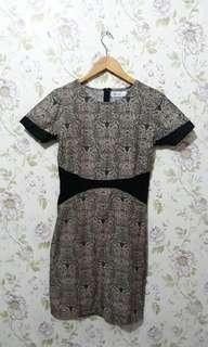 dress batik combi