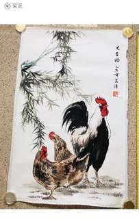 Chinese Painting 中國工笔画!張克清老師 '大吉图'