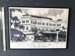 A 1938 Year  print of the iconic Raffles Hotel