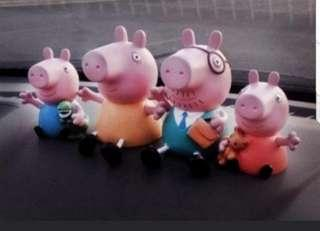 Peppa pig 4pcs Family toy figurine