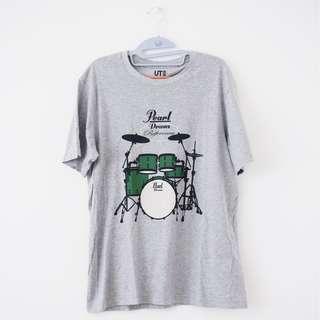 Tshirt Uniqlo Pearl Drums