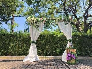 婚禮證婚木背景架拱門 backdrop Arch