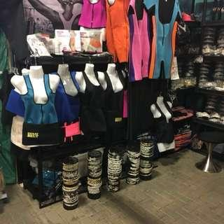 Neoprene Thermal Fat Burning Bodywear Clearance.$10 $35 Summer hours opened Sundays only 10am to 3pm 686 Scarlett Road Etobicoke.
