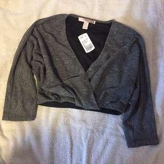 Forever 21 grey knit top crop