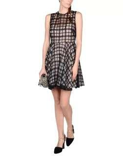 Red Valentino nude dress see through