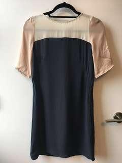 Babaton Aritzia silk dress - XS